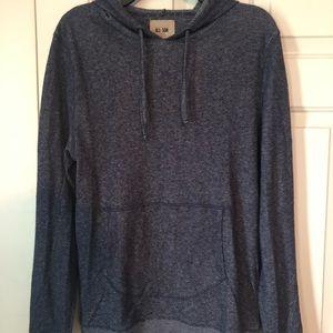 All Son Ribbed Grey Hooded Sweatshirt